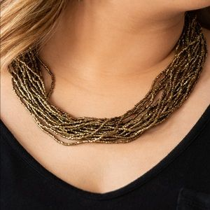 Jewelry - Bronze seed bead necklace. NWT.
